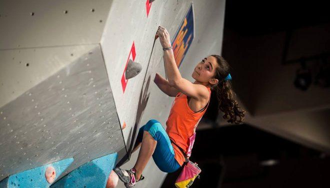 Brooke Raboutou en una competición reciente (febrero 2013)  (Just Fab)