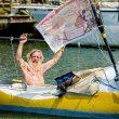 Aleksander Doba en su kayak  (Aleksanderdoba.pl)