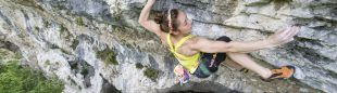 Jain Kim escalando en Arco  (Reinhard Fichtinger/Red Bull Content Pool)
