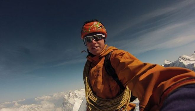 Tom Ballard en la cima del Eiger  (Col. T. Ballard)