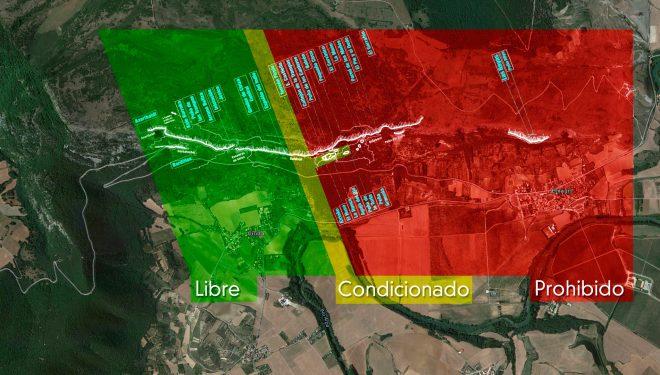 Posible zonificación de la escalada en Etxauri.  ()