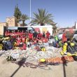 Los 16 miembros del grupo de espeleo socorro desplazados por la Federación Andaluza a Marruecos para colaborar en el rescate de los tres espeleólogos  (© Federación Andaluza Espeleologia)