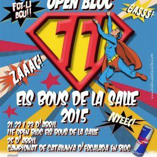 Cartel Open Bloc els Bous de la Salle + Campeonato de Cataluña de escalada en bloque  ()