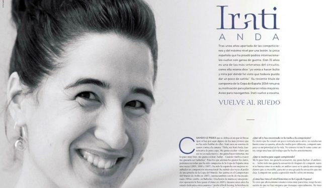 Entrevista Irati Anda en la revista Escalar nº 93. ()