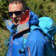 El escalador y montañero Emilio López-Higueras durante la prueba de productos candidatos al Premio Desnivel de Material 2014.  (Col. Emilio López-Higueras)