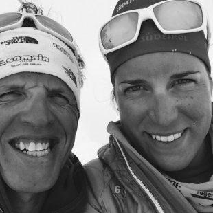 Simone Moro y Tamara Lunger en su expedición al Manaslu. Abril 2015  (@Simone Moro)