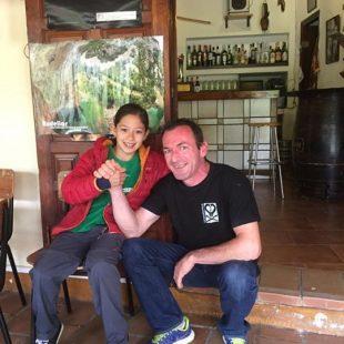 Angie Scarth-Johnson y Carlos Logroño en Rodellar  (Col. A. Scarth-Johnson)