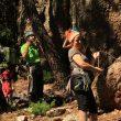 Escaladores en primer encuentro de escalada en Callejuelas