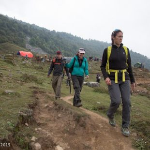 Edurne Pasaban en Nepal tras el terremoto. 2015  (©Edurne Pasaban)