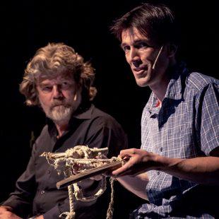 Reinhold Messner y Hervé Barmasse en el Trento Film Festival 2015  (©Trento Film Festival)