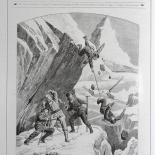 Dibujo publicado en la portada de LIllustrazione italiana