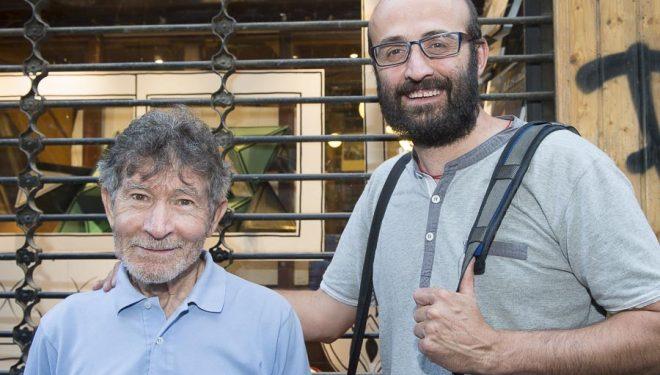 Luis Miguel López Soriano y Carlos Soria en la Librería Desnivel en la presentación de la Asociación Ayuda Directa Himalaya (junio 2015)  (© Darío Rodríguez/DESNIVEL)