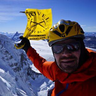 Markus Pucher en la cima del Cerro Marconi Sur (Patagonia)  (Col. M. Pucher)