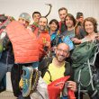 Foto de grupo de algunos de los miembros del jurado del Premio Desnivel de Material 2015  (Darío Rodríguez / Desnivelpress)