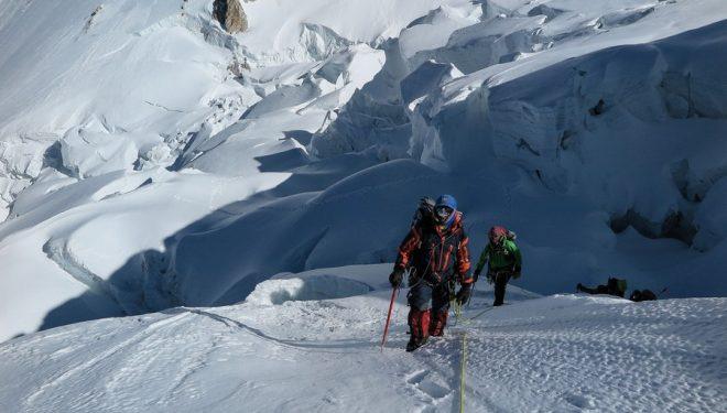 Ascensión hacia el C2 del Gasherbrum I  (Ferran Latorre)