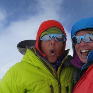 Chantel Astorga y Jewell Lund en la cumbre del Denali (Alaska)  (Col. J. Lund)