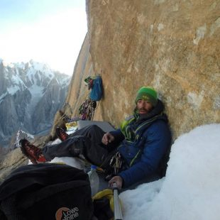Pedro Cifuentes en la Nameless Tower (Trango