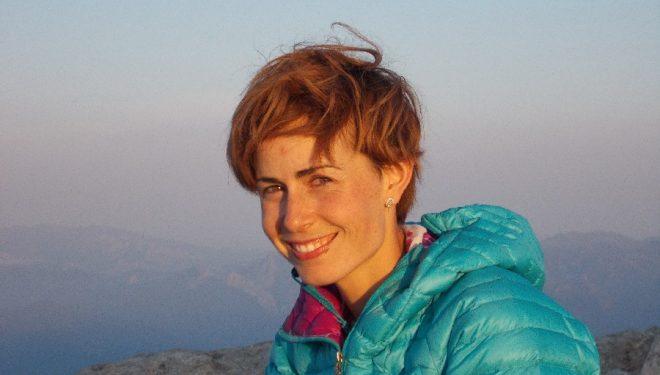 Fátima Gil en la cima del Pilar Cantábrico en 2015  (Fátima Gil)