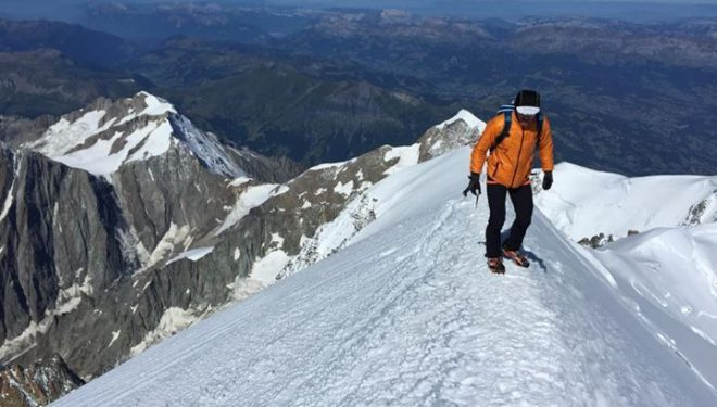 Ueli Steck en el Mont Blanc (agosto 2015)  (82 Summits)