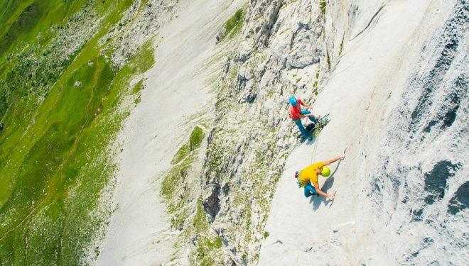 Lukasz Dudek y Jacek Matuszek en el L4 de Silbergeier (200 m