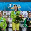 Podio femenino de la Copa del Mundo de Imst 2015: 1ª Mina Markovic