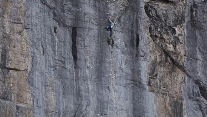 Roger Schaeli y Mich Kemeter en Paciencia (8a) en la cara norte del Eiger. Agosto 2015  (Frank Kretschmann)