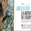 Equipando con Angela Eiter en la revista Escalar nº 99.  ()