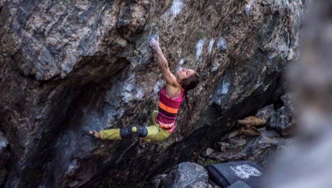 Alex Puccio en Irreversible 8B de Rocky Mountain (septiembre 2015)  (Joel Kerr)