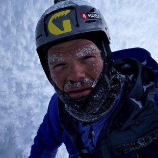 Autoretrato de Markus Pucher durante su intento invernal al Cerro Torre (2015)  (©Markus Pucher)