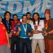Ganadores de la Liga Nacional de Rallyes 2015 tras la última prueba en El Chorro  ()