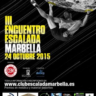 Cartel III encuentro de escalada en Marbella 2015  ()