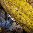Alex Puccio en Dont get too greedy 8B de Rocky Mountain National Park. Octubre 2015  (Joel Zerr)