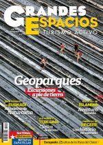 Portada de la revista Grandes Espacios nº 215. Geoparques [WEB]  ()