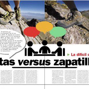 Artículo Botas versus Zapatilla en la revistas Grandes Espacios nº 215  ()