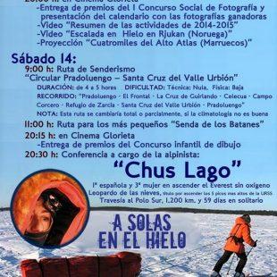 Cartel XVI edición de las Jornadas de Montaña de Pradoluengo  ()