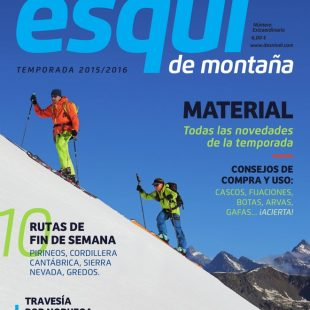 Portada de la revista Desnivel nº 353 Especial Esquí de Montaña 2015. [WEB]  ()