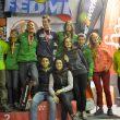 Podio de los ganadores de la tercera prueba de la Copa de España de Bloque y del Campeonato Madrileño de Bloque 2015  (Natalia Hernández/Desnivelpress)