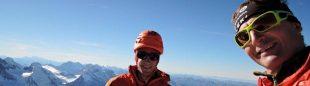 Kilian Jornet y Ueli Steck en la cumbre del Eiger  (Col. U. Steck)