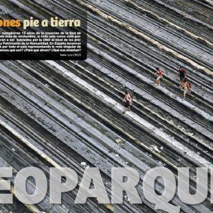 Artículo Geoparques. Excursiones a pie de tierra en la revista Grandes Espacios nº 215.  ()