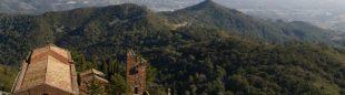 Montañas de la Costa Daurada desde las inmediaciones del castillo de Escornalbou