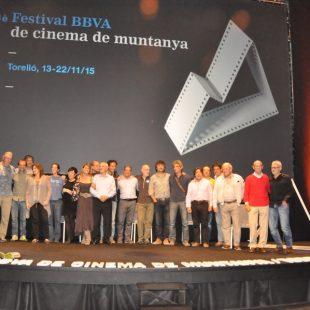 Foto de familia del ochomilismo catalán en el Festival de Torelló 2015  (Isaac Fernández / DESNIVEL)