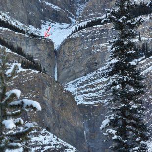 Punto donde Greg Boswell y Nick Bullock fueron atacados por un oso en el Mt. Wilson (Canadá). Noviembre 2015  (Nick Bullock)