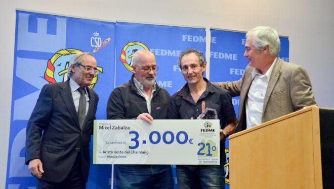 Mikel Zabalza recoge su pemio FEDME 2015  ()