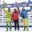Podio masculino Individual Race Copa Mundo Esquí de Montaña celebrada en Font Blanca 2016. Ganador Kilian Jornet