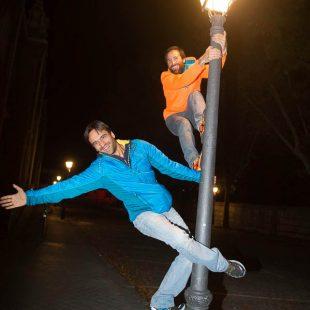 Alex Txikon junto a Daniele Nardi antes de partir al Nanga Parbat. 2015  (@Darío Rodríguez)