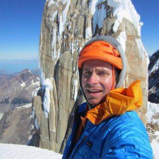 Colin Haley tras escalar la Torre Egger en solitario. Enero 2016  (Col. C. Haley)