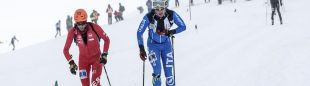 Kilian Jornet y Michele Boscacci en la Individual Race Copa Mundo Esquí de Montaña celebrada en Font Blanca 2016. Ganó Kilian
