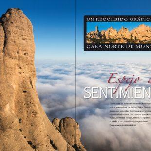 Escaladas en la cara norte de Montserrat