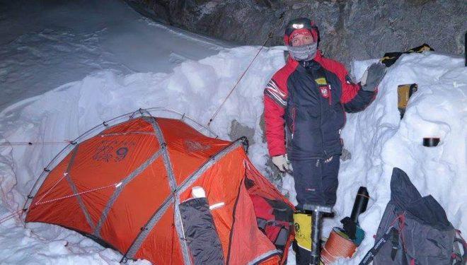 Jacek Czech en el C1 del Nanga Parbat invernal  (Adam Bielecki)