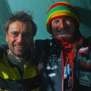 Daniele Nardi y Adam Bielecki en el campo base del Nanga Parbat invernal 2015  (Col. D. Nardi)